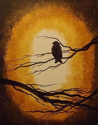Painting - Somber Bird by Sunshine Ammerman