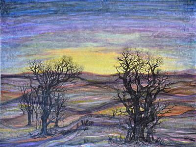Drawing - Somber Landscape by Regina Valluzzi
