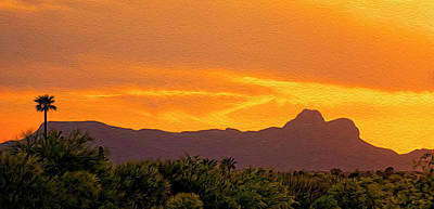 Photograph - Sombrero Peak Sunset Op6 by Mark Myhaver