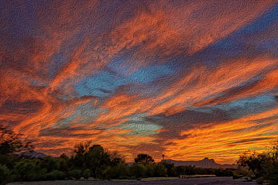 Mark Myhaver Royalty Free Images - Sombrero Sunset op27 Royalty-Free Image by Mark Myhaver