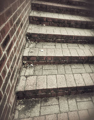 Some Brick Steps Art Print by Tom Gowanlock