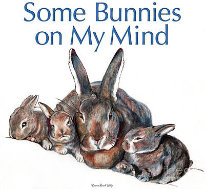 Drawing - Some Bunnies On My Mind by Deanna Yildiz