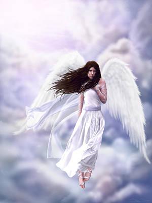 Katharine Hepburn - Some Clouds Have Wings by Stephanie Shimerdla