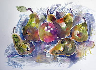 Painting - Some Fruits by Kovacs Anna Brigitta