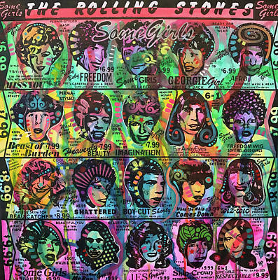 Rolling Stones Wall Art - Painting - Some Girls Redux by Dean Russo Art