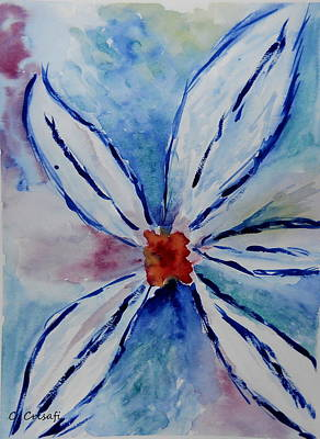 Painting - Some Kind Of Flower by Carol Crisafi