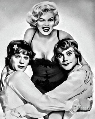 Actors Royalty-Free and Rights-Managed Images - Some Like it Hot, Digital Art by Mary Bassett by Mary Bassett