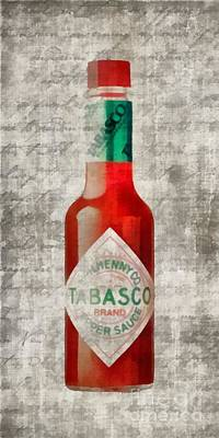 Tabasco Painting - Some Like It Hot Tabasco Sauce by Edward Fielding