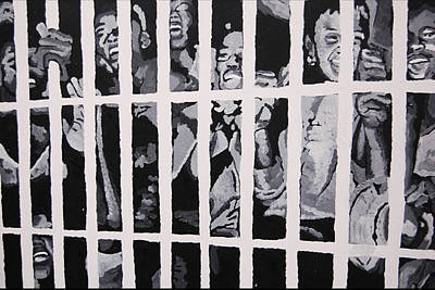 Some Of The 210 Demonstrators Jailed Wave From Their Cell 1964 Print by Lauren Luna