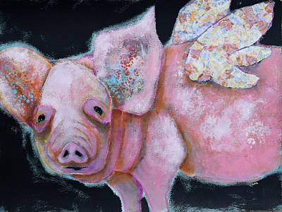 Mixed Media - Some Pig by Jen Walls