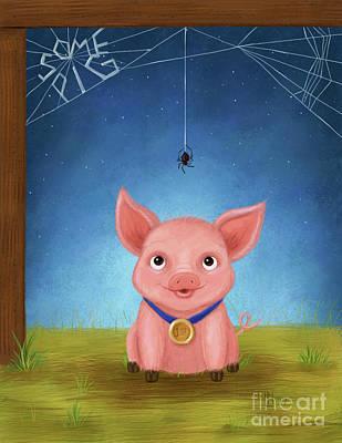 Digital Art - Some Pig by Lisa Norris