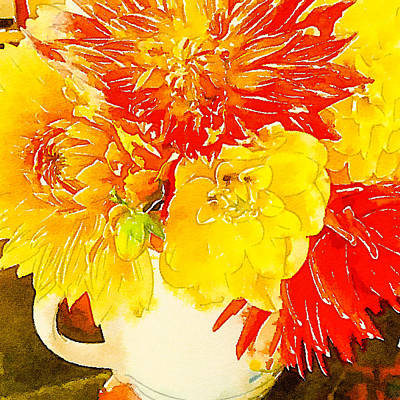 Photograph - Some Summer Dahlias by Ronda Broatch
