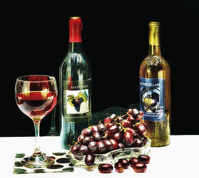 Some Wine And Grapes Original by Arnie Goldstein