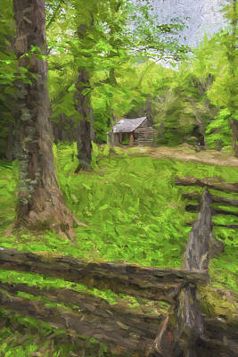 Smokey Mountains Digital Art - Somebody Lived Here II by Jon Glaser