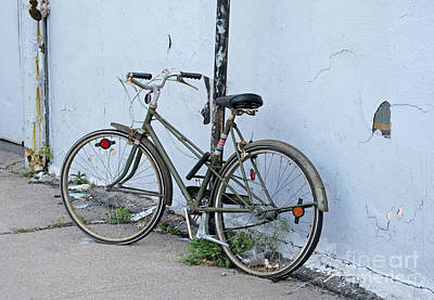 Photograph - Somebody's Bicycle by Ethna Gillespie