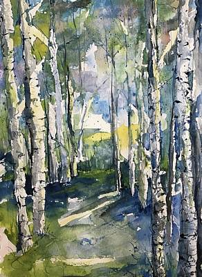 Painting - Somebody's Camino  by Robin Miller-Bookhout