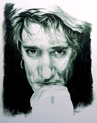 Painting - Someone Like You - Rod Stewart by William Walts