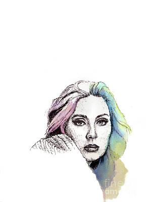 Adele Drawing - Someone Like You by Romualdo Salazar
