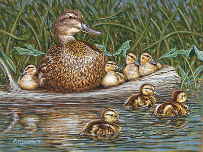 Mallard Ducks Painting - Someone To Watch Over Me by Richard De Wolfe