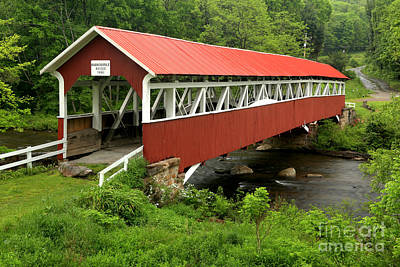 Photograph - Somerset Covered Bridge Crossing by Adam Jewell
