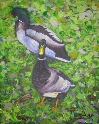 Painting - Somerset Ducks by Shirley Wellstead