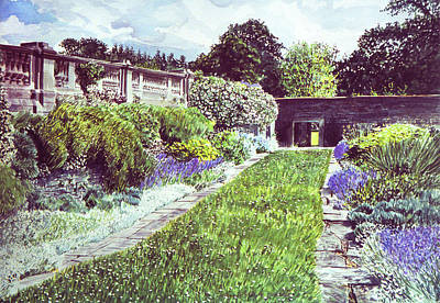 Most Painting - Somerset Garden by David Lloyd Glover