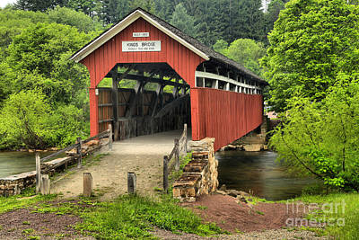 Photograph - Somerset Kings Covered Bridge by Adam Jewell