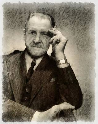 Einstein Painting - Somerset Maugham, Author by John Springfield