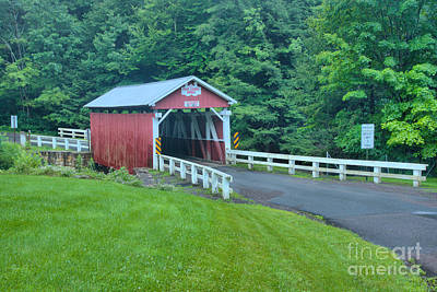 Photograph - Somerset Packsaddle Covered Bridge by Adam Jewell