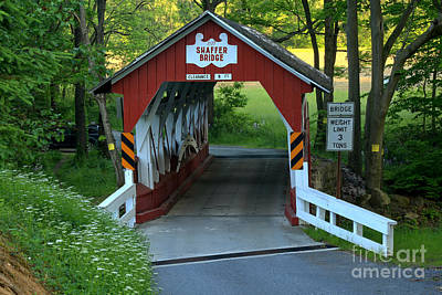 Photograph - Somerset Shaffer Covered Bridge by Adam Jewell