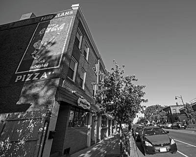 Photograph - Somerville Ma Somerville Ave Mural Black And White by Toby McGuire