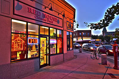 Photograph - Somerville Red House Union Square Somerville Ma by Toby McGuire