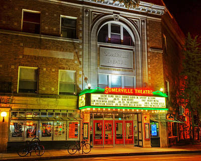 Photograph - Somerville Theater In Davis Square Somerville Ma by Toby McGuire