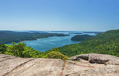 Photograph - Somes Sound From Acadia Mountain by Elizabeth Dow