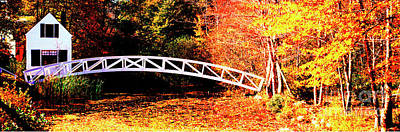 Photograph - Somessville Foot Bridge Mount Desert Island Maine by Tom Jelen