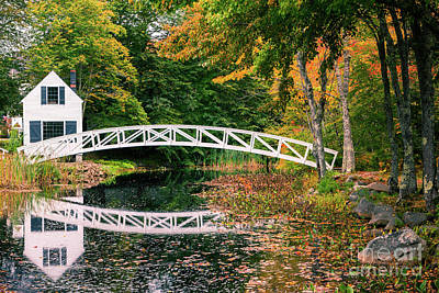 Somesville Photograph - Somesville Bridge by Henk Meijer Photography