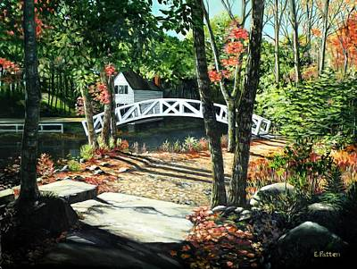 Painting - Somesville Bridge, Maine by Eileen Patten Oliver