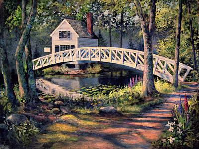 Somesville Bridge, Maine Art Print by Frederick Carrow