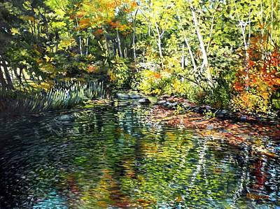 Painting - Somes Brook, From The Footbridge by Eileen Patten Oliver