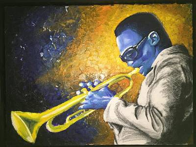 Painting - Somethin' Blue by Rufus Royster