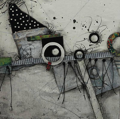 Circle Mixed Media - Something Different  by Laura Lein-Svencner