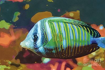 Something Fishy Art Print by Deborah MacQuarrie-Selib