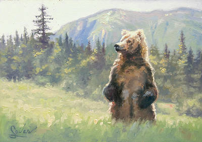 Painting - Something In The Air- Alaskan Brown Bear by Larry Seiler