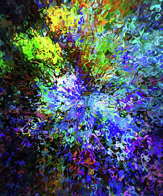 Mixed Media - Something In The Air Last Night Abstract Fireworks by Georgiana Romanovna