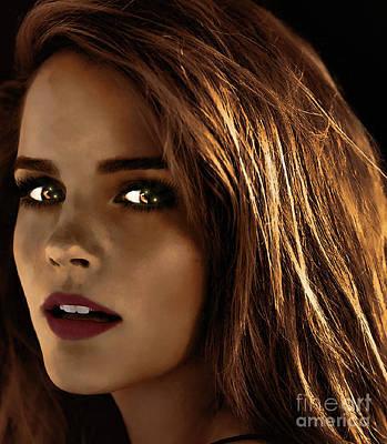 Hermione Granger Digital Art - Something In The Eyes by Robert Radmore