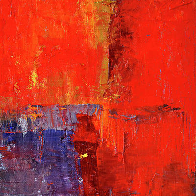 Painting - Something Red by Nancy Merkle