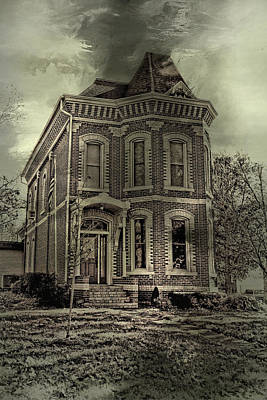 Haunted House Digital Art - Something's Happening Here by Theresa Campbell