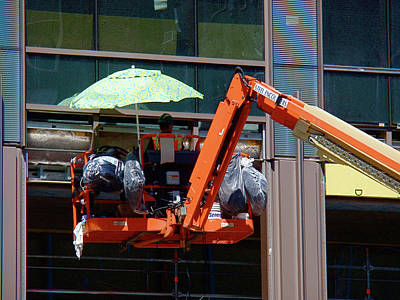 At Work Photograph - Sometimes Construction Can Feel Like A Day At The Beach by Rona Black