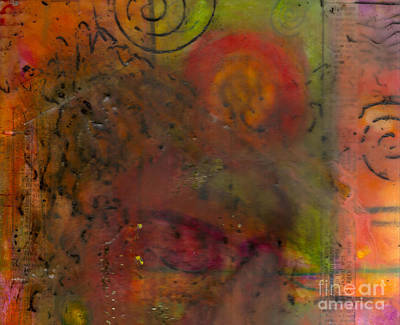 Mixed Media - Sometimes I Just Close My Eyes by Angela L Walker