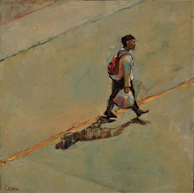 Painting - Sometimes I Like To Walk Alone by Jean Cormier